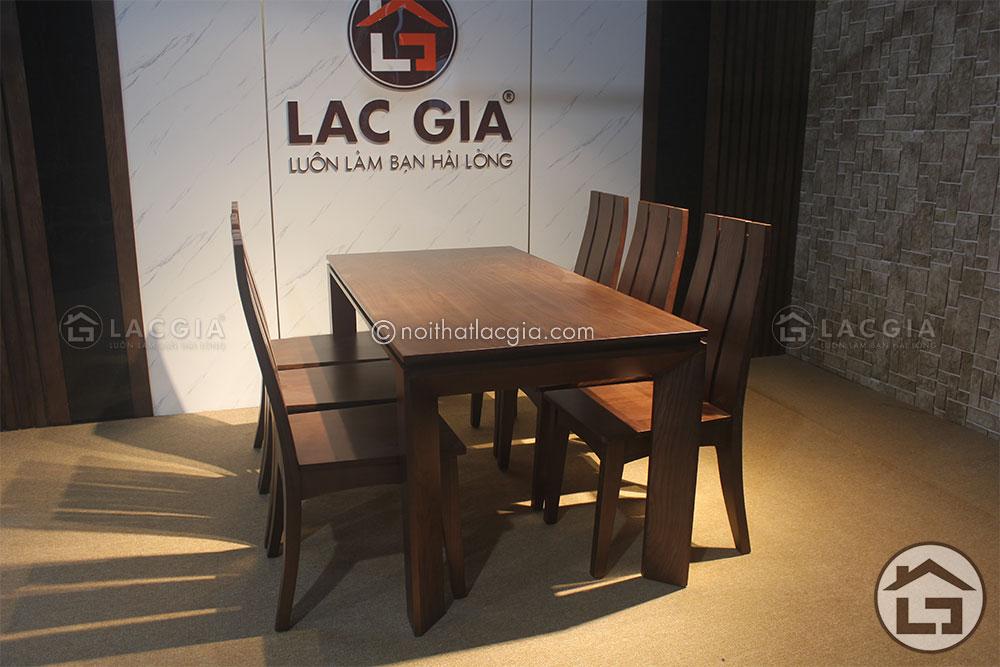 Kích thước tiêu chuẩn của bộ bàn ăn gỗ chữ nhật