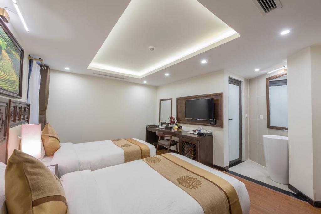 133280420 1024x684 - Thiết kế & thi công nội thất khách sạn 4 sao Sapa Relax Hotel & Spa
