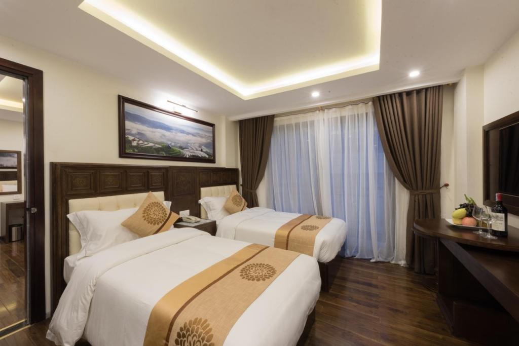 133280427 1024x683 - Thiết kế & thi công nội thất khách sạn 4 sao Sapa Relax Hotel & Spa