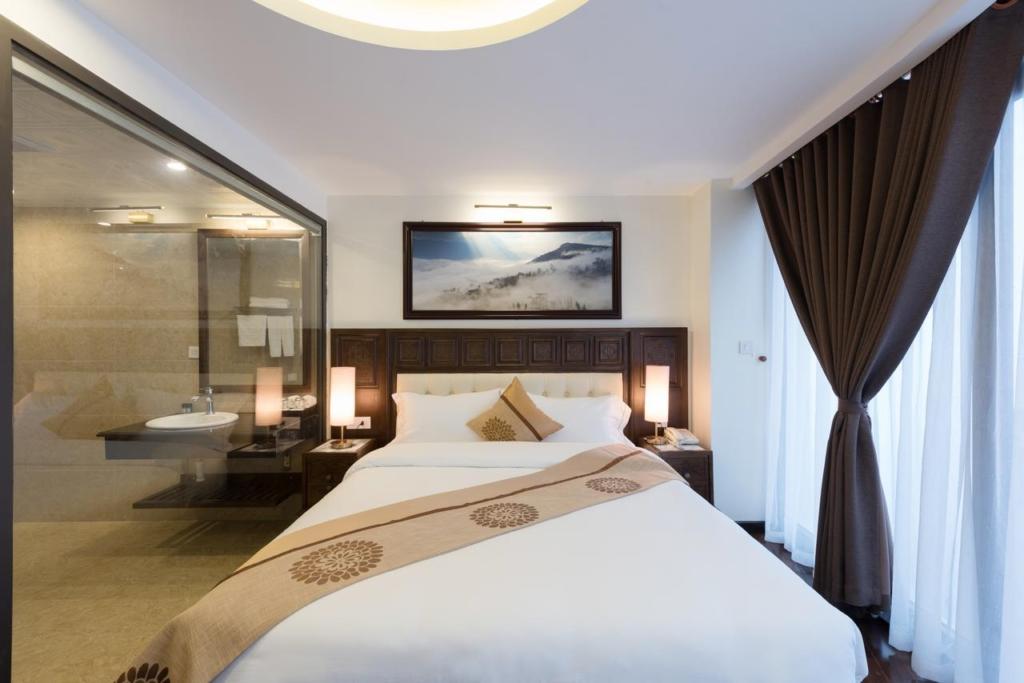133280700 1024x683 - Thiết kế & thi công nội thất khách sạn 4 sao Sapa Relax Hotel & Spa