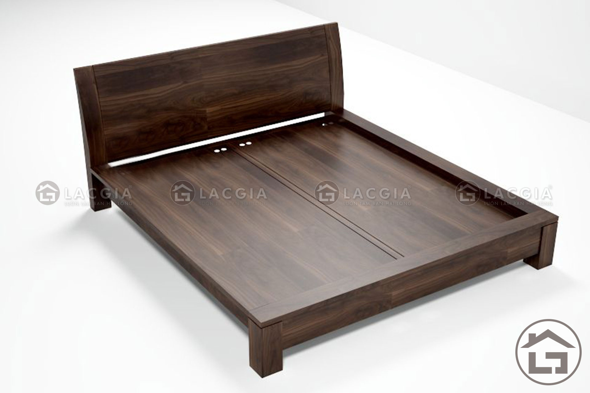 2 6 - Giường gỗ đơn giản GN05
