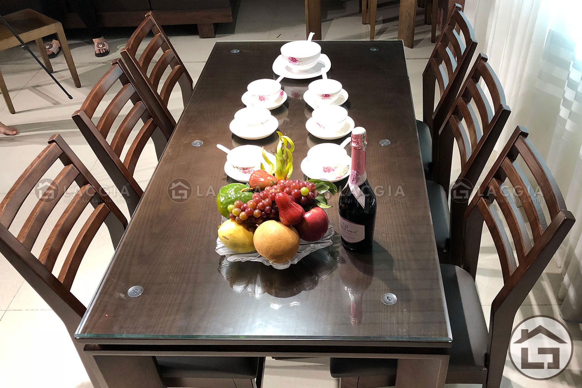 Bộ bàn ăn gỗ 6 ghế sang trọng tại Nội Thất Lạc Gia