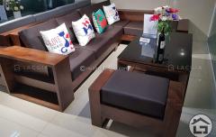 Bàn ghế sofa gỗ chữ l