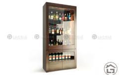 TU RUOU go  240x152 - Tủ rượu hiện đại TR02