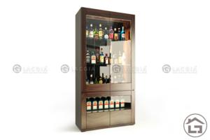 TU RUOU go  300x200 - Tủ rượu hiện đại TR02