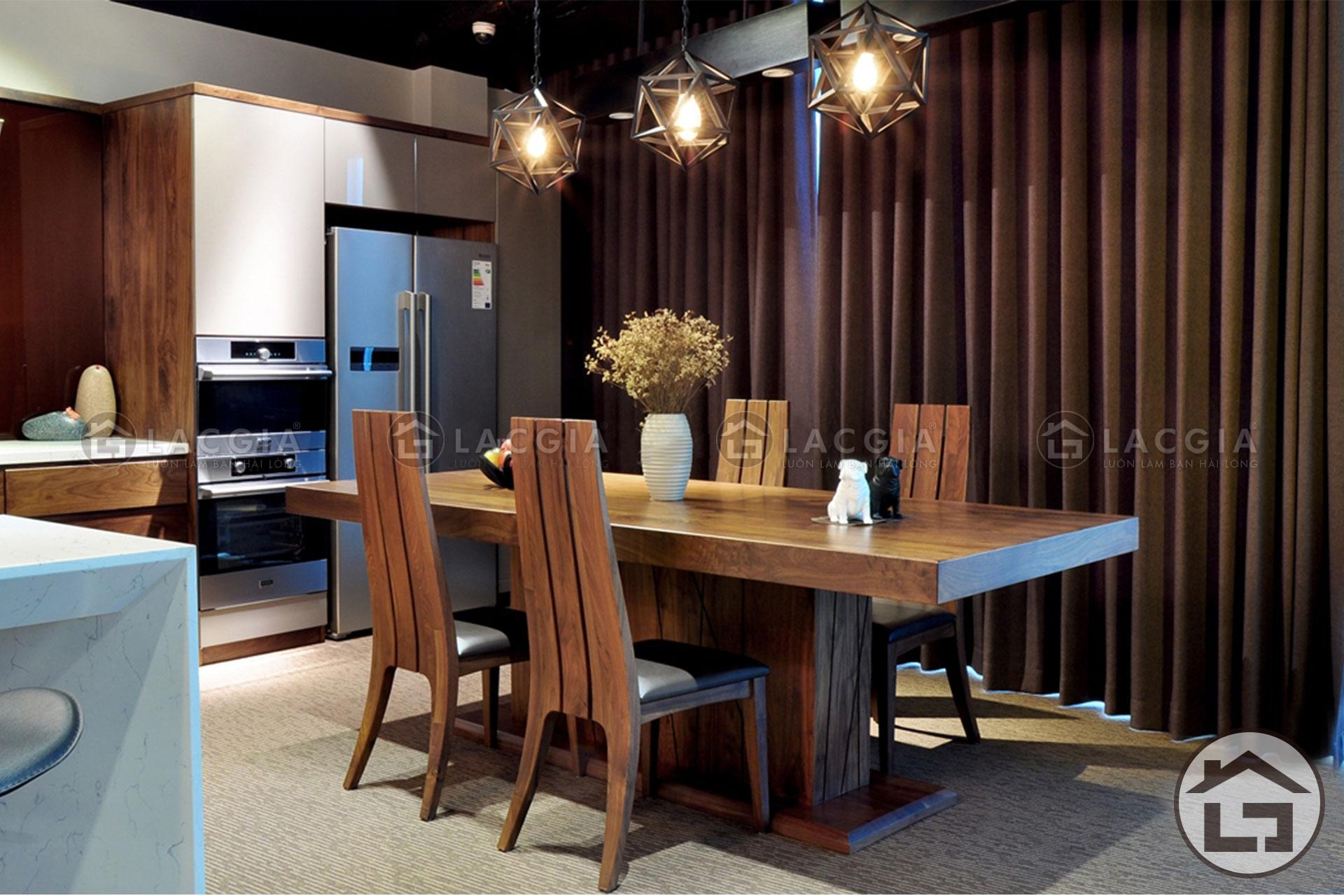 Nên chọn bàn ăn gỗ công nghiệp hay bàn ăn gỗ tự nhiên cho phòng bếp - Ảnh 7
