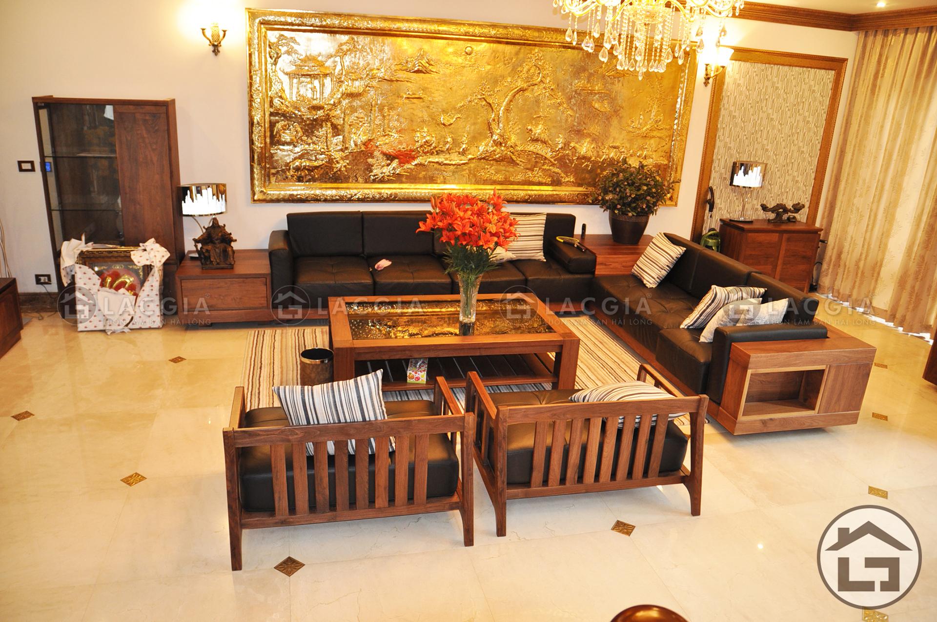 bo sofa lon lg sf02 1 - Sofa gỗ cao cấp SF02