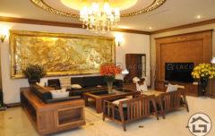 Mẫu bàn ghế sofa gỗ phòng khách cao cấp