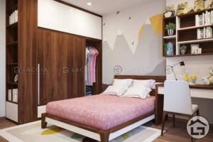 giuong ngu dep cho chung cu 300x200 - Thiết kế & thi công nội thất phòng ngủ chung cư FLC Start Hà Đông