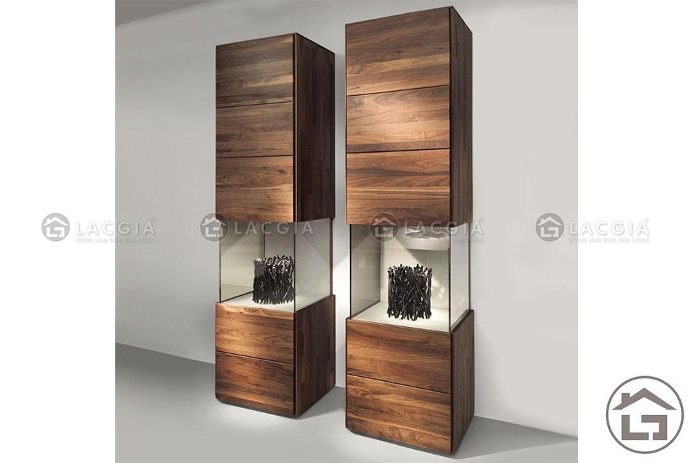 ke trang tri 05 - Tủ gỗ trang trí đẹp TTT05
