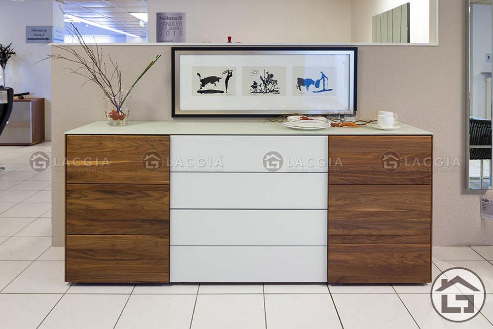 ke trang tri 06 - Tủ gỗ trang trí đẹp TTT06