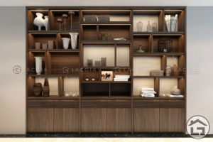 ke trang tri 11 300x200 - Tủ trang trí gỗ TTT11