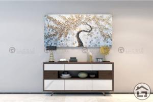 ke trang tri 12 300x200 - Tủ trang trí gỗ đẹp TTT12