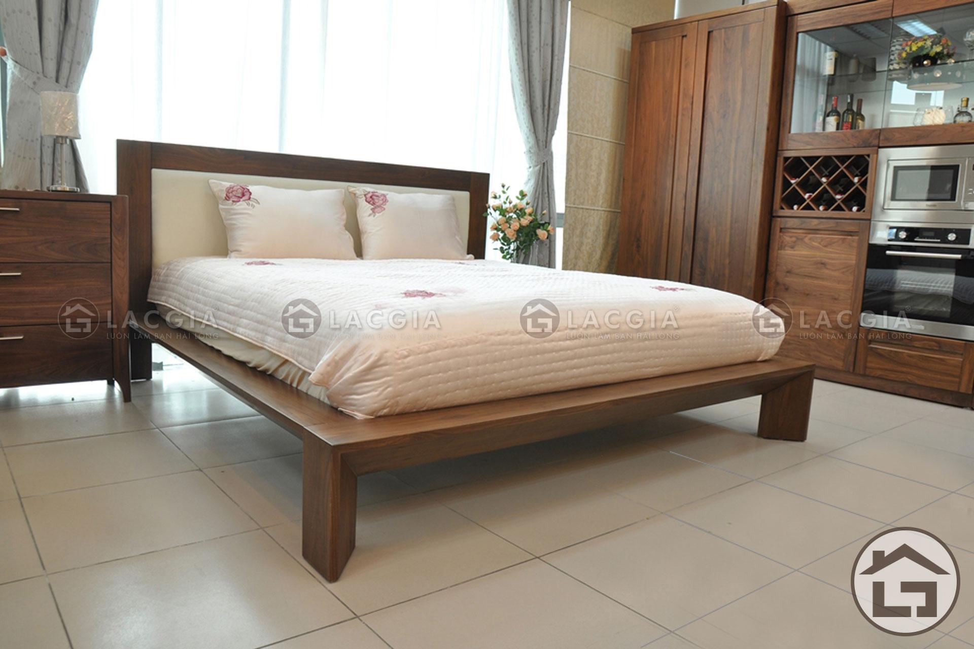lacgia - Giường gỗ đẹp GN04