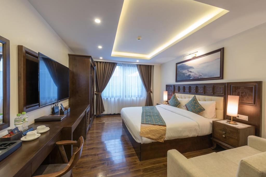 phong ngu khach san relax hotel sapa 1024x683 - Thiết kế & thi công nội thất khách sạn 4 sao Sapa Relax Hotel & Spa