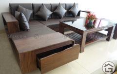Mẫu sofa gỗ chữ L giá rẻ cho chung cư