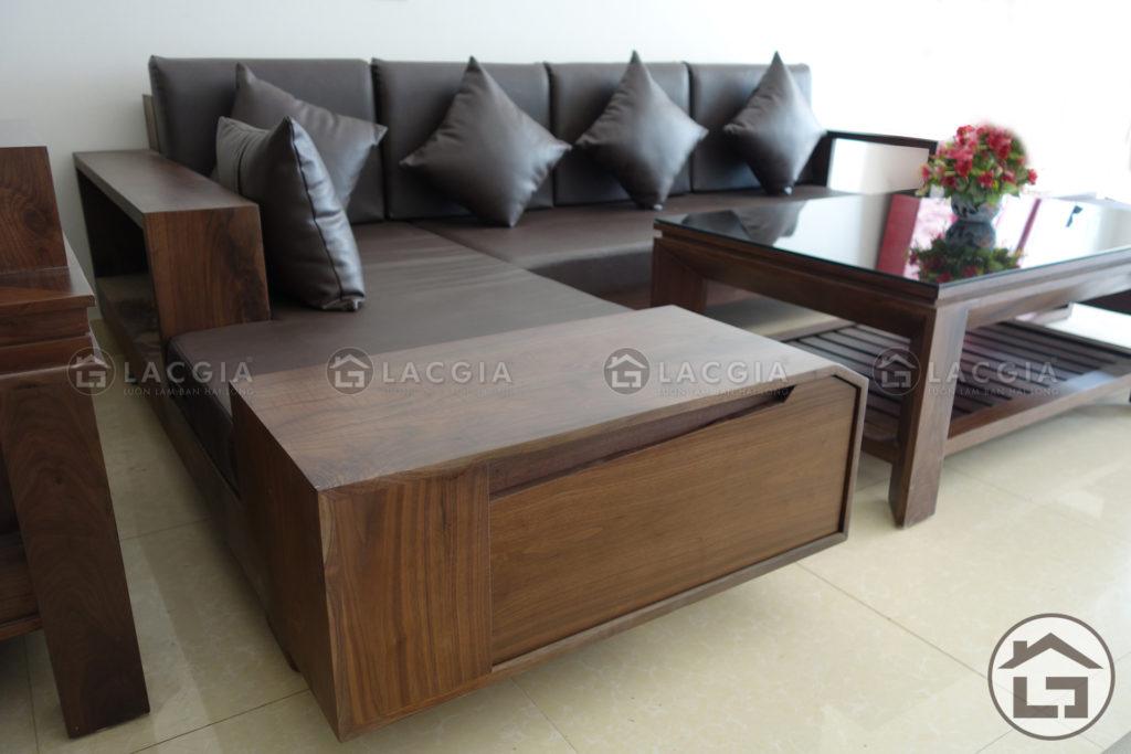Sofa gỗ đẹp, giá rẻ SF03 cho chung cư hiện đại