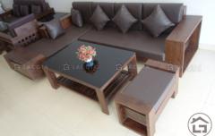 Bàn ghế sofa gỗ đẹp chữ L