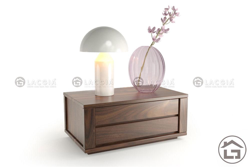 tab dau giuong 02 - Tab đầu giường gỗ TAB02