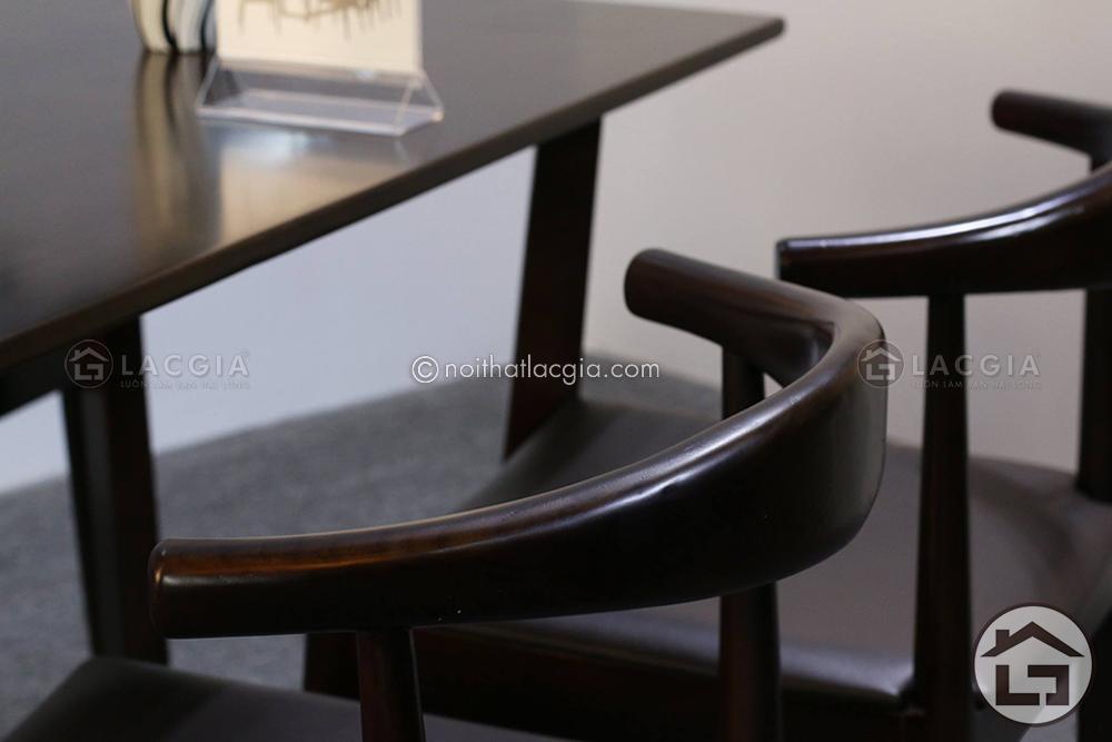 BA11 ban an mat da ghe boc da co vai go 13 - Bàn ghế ăn gỗ đẹp BA12