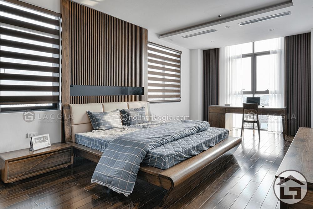 Giường ngủ gỗ đón tết màu sắc đẹp mắt, hợp phong thủy