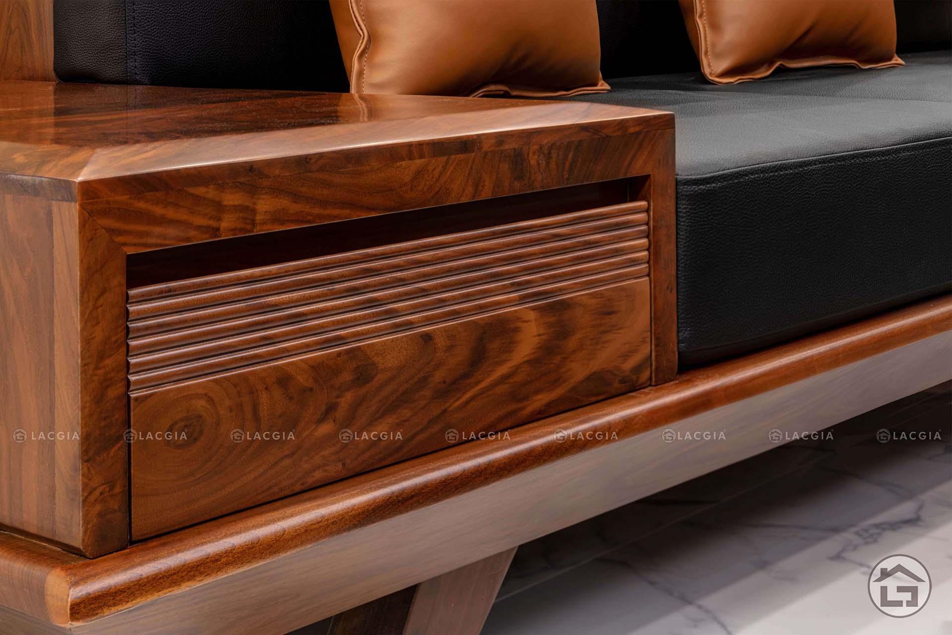 sofa go dep sf08 11 - Sofa góc có ngăn kéo SF08
