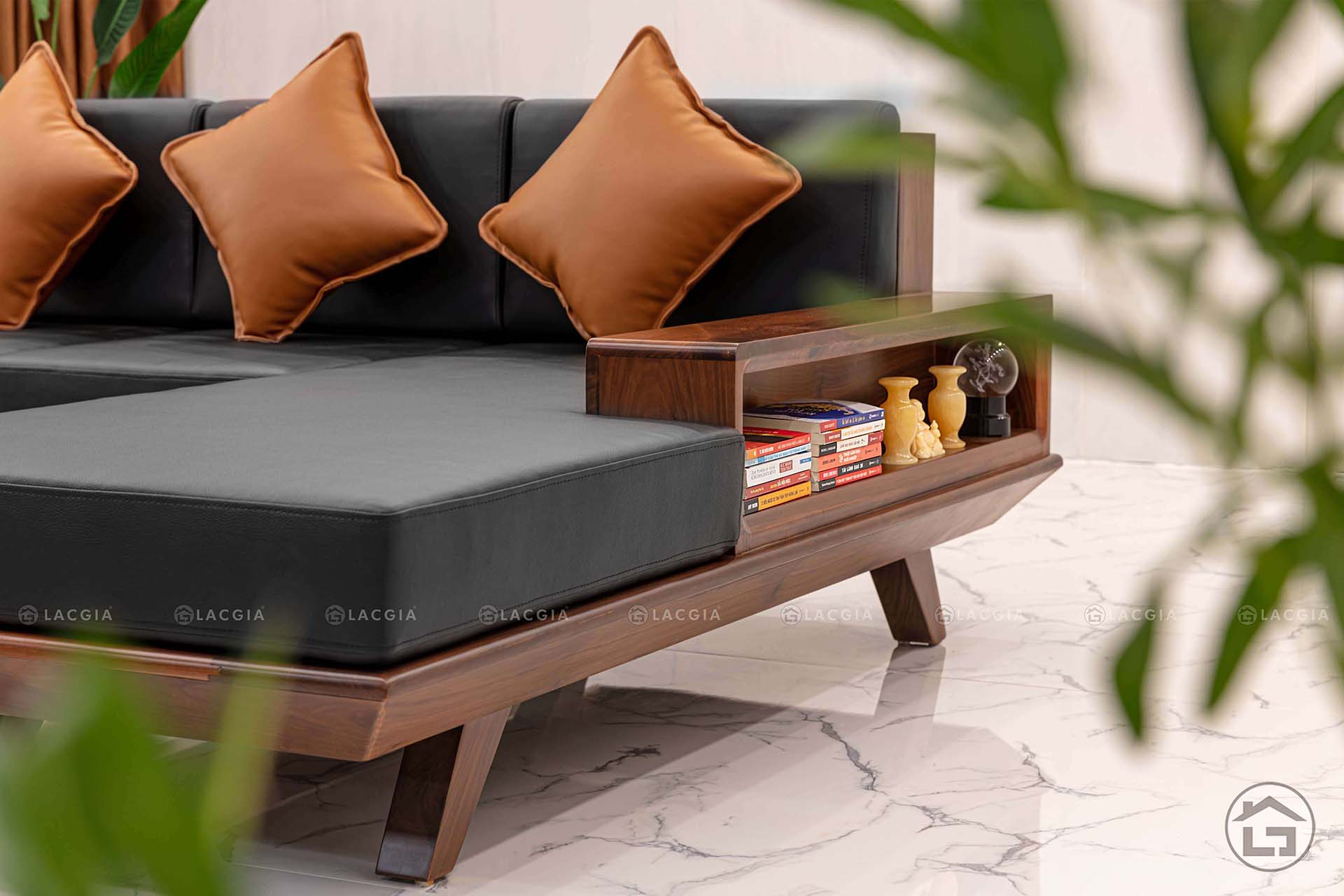 sofa go dep sf08 9 - Sofa góc có ngăn kéo SF08