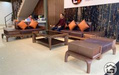 Sofa phòng khách gỗ cao cấp, sang trọng, giá tốt
