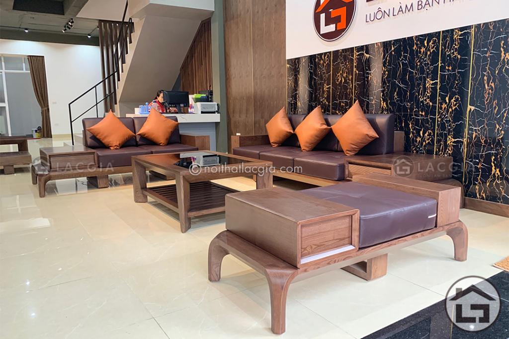 Sofa gỗ phòng khách cao cấp SF10
