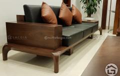 Sofa gỗ óc chó cao cấp tại Nội Thất Lạc Gia