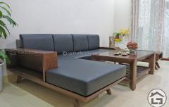 Sofa gỗ chữ L giá rẻ cho chung cư