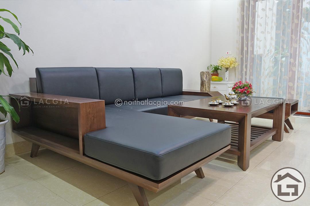 ban ghe go phong khach dep SF05 3 - Sofa gỗ có ngăn kéo SF05
