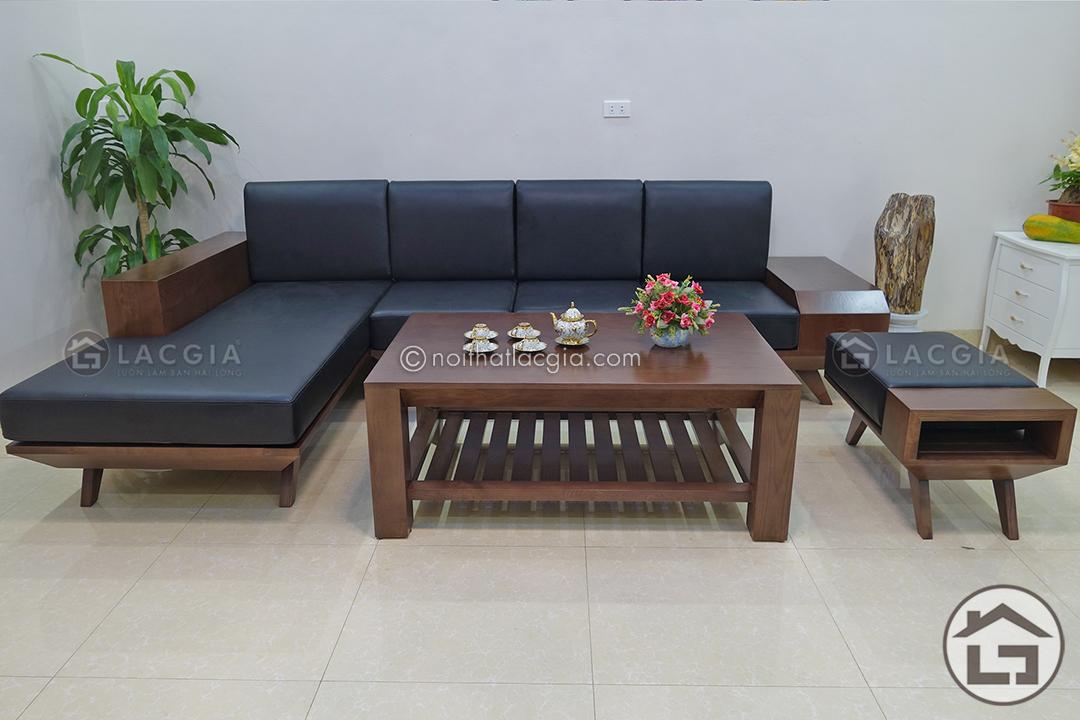 bàn ghế sofa gỗ sồi cao cấp
