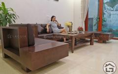 Bàn ghế sofa gỗ đẹp cho không gian phòng khách