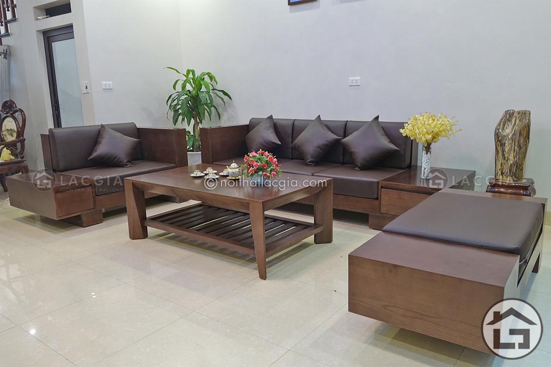 ban ghe sofa go dep SF06 3 - Những lưu ý khi mua sofa gỗ cho phòng khách