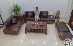 Sofa gỗ đẹp, giá rẻ cho phòng khách