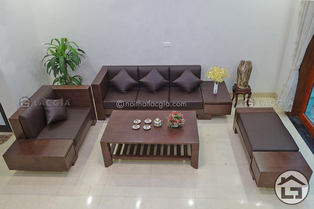 ban ghe sofa go dep SF06 7 - Sofa gỗ đẹp SF06