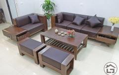 Sofa gỗ hiện đại cho phòng khách đẹp