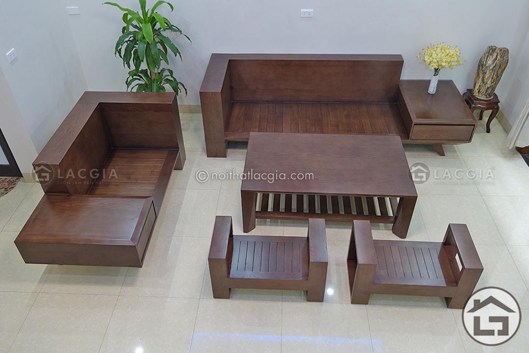 Bàn ghế sofa gỗ phòng khách đẹp