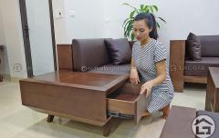 Mẫu sofa gỗ sồi Nga cao cấp tại Nội Thất Lạc Gia