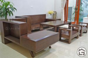 Sofa gỗ giá rẻ với chất liệu gỗ sồi Nga