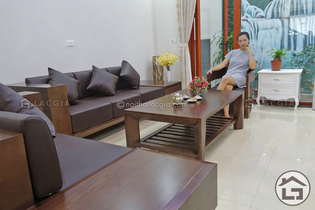 Sofa gỗ tự nhiên SF9