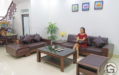 Bàn ghế sofa gỗ cho chung cư