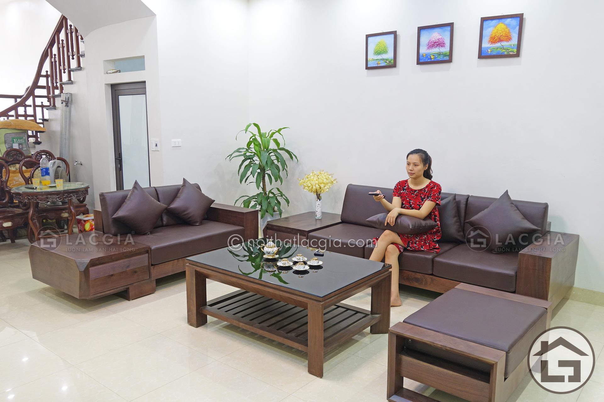 sofa go cho khong gian phong khach dep SF12 32 - Nơi mua sofa gỗ tốt nhất tại Hà Nội
