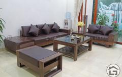 Sofa gỗ óc chó SF12