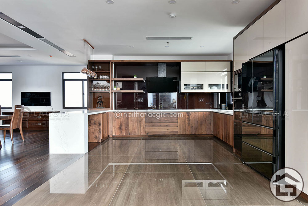 TB06 - Tủ bếp gỗ hiện đại TB06