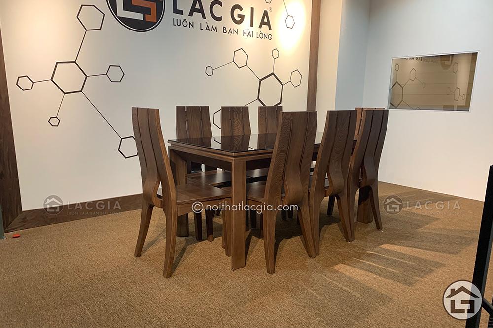 21 1 - Bàn ghế ăn gỗ cao cấp BA20