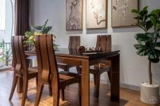 Bàn ghế ăn gỗ hiện đại BA08
