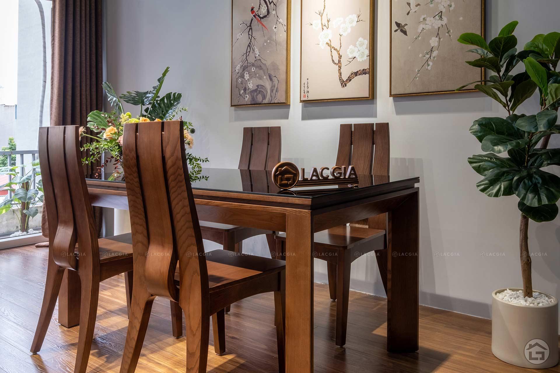 ban ghe an go hien dai ba08 1 - Bàn ghế ăn gỗ hiện đại BA08