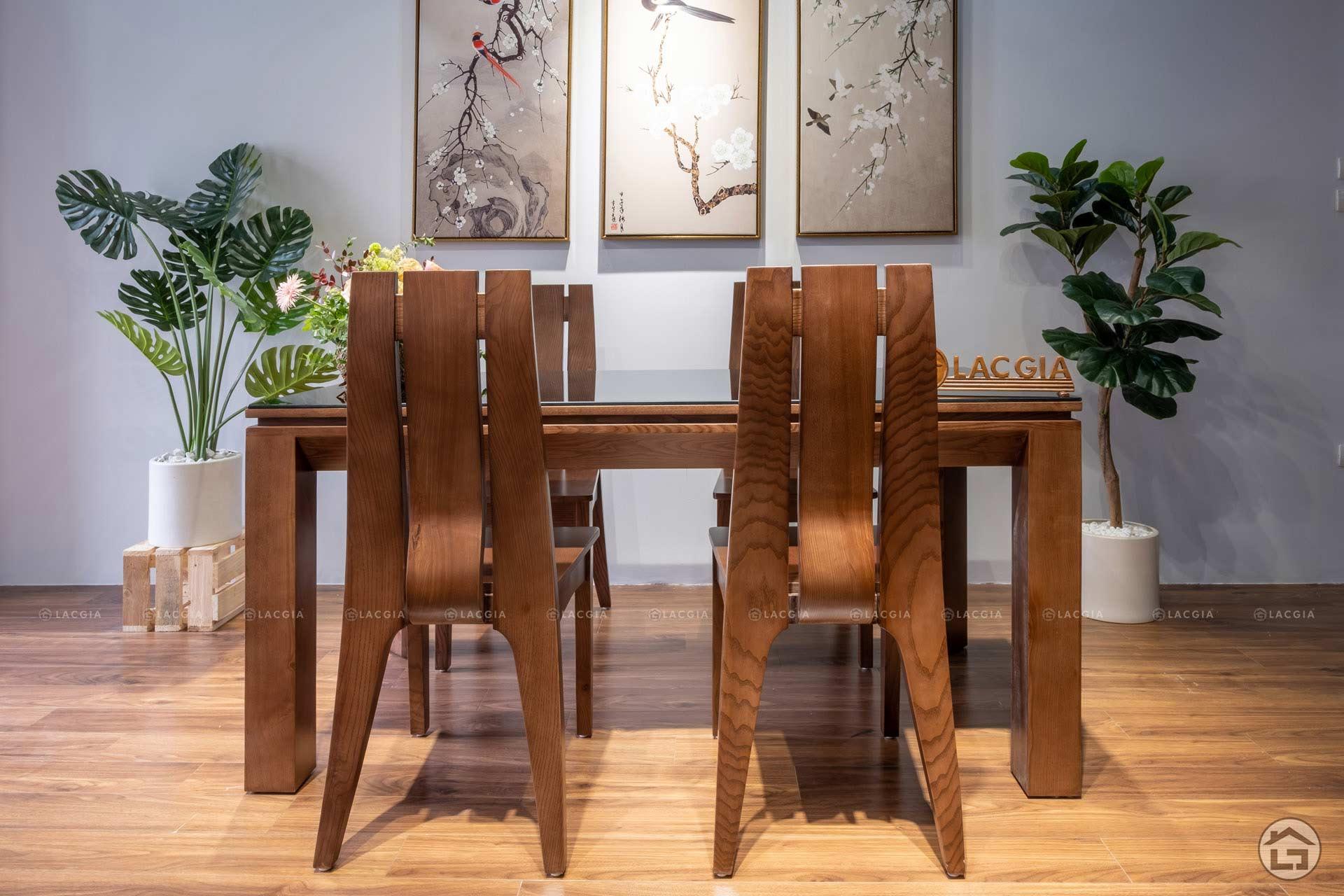 ban ghe an go hien dai ba08 5 - Bàn ghế ăn gỗ hiện đại BA08